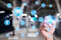 Concept d'automation comme innovation, améliorant la productivité, la fiabilité et la répétabilité en technologie et affaires photographie stock