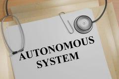 Concept d'Autonomous System Photo libre de droits