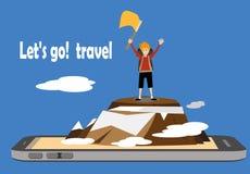 Concept d'aventure de voyage Image libre de droits