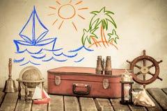 Concept d'aventure et de voyage Images libres de droits