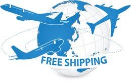 Concept d'avion, expédition de métier d'air autour du monde pour le concept de transport Photo libre de droits