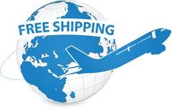 Concept d'avion, expédition de métier d'air autour du monde pour le concept de transport Image libre de droits