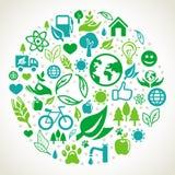 Concept d'écologie de vecteur Photos stock