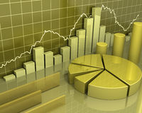 Concept d'or d'affaires de diagrammes illustration de vecteur