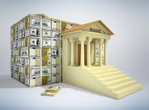 Concept 3D d'opérations bancaires Photos stock