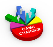 concept 3d de commutateur de jeu d'alliance d'affaires Images libres de droits