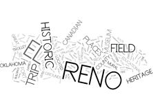 Concept d'EL Reno Field Trip Word Cloud Photographie stock libre de droits