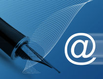 Concept d'email Photographie stock