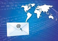 Concept d'email avec le globe Images libres de droits