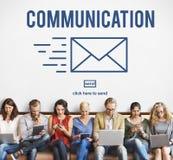 Concept d'email de correspondance de connexion de communication photographie stock libre de droits