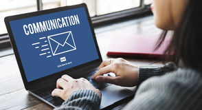 Concept d'email de correspondance de connexion de communication images libres de droits
