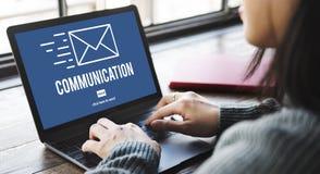 Concept d'email de correspondance de connexion de communication photo stock