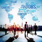 Concept d'emploi de recrutement de carrières de profession des travaux Images libres de droits