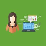 Concept d'employé de bureau, illustration de vecteur Photos libres de droits