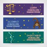 Concept d'en-tête ou de bannière d'horoscope de site Web illustration de vecteur