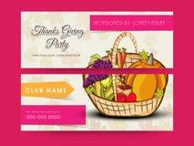 Concept d'en-tête ou de bannière de célébration de jour de thanksgiving Images stock