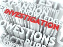 Concept d'enquête. illustration stock
