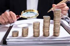 Concept d'enquête de fraude fiscale photo stock