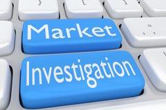 Concept d'enquête du marché Image libre de droits