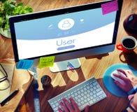 Concept d'enregistrement de profil de compte utilisateur images libres de droits