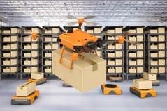 Concept d'entrepôt d'automation illustration libre de droits