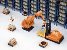 Concept d'entrepôt automatique illustration stock