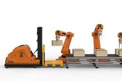 Concept d'entrepôt automatique illustration de vecteur