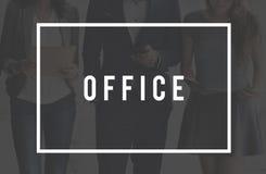 Concept d'entreprise d'espace de travail de lieu de travail de sièges sociaux de bureau Photographie stock