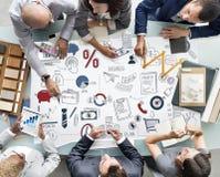 Concept d'entreprise de démarrage de développement de planification des affaires Photos stock