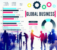Concept d'entreprise de développement de croissance d'affaires globales Photos libres de droits