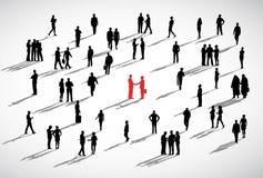 Concept d'entreprise de discussion d'association de deux hommes d'affaires illustration libre de droits