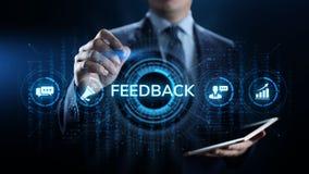 Concept d'entreprise de services de t?moignages d'examen de satisfaction du client de retour illustration libre de droits