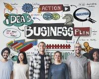 Concept d'entreprise de stratégie d'analyse de société commerciale Images libres de droits