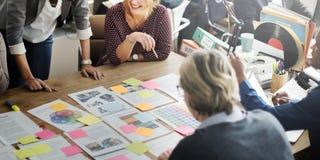 Concept d'entreprise de travail d'équipe d'accomplissement de coopération image stock