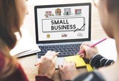 Concept d'entreprise de vente de stratégie de petite entreprise Photo libre de droits