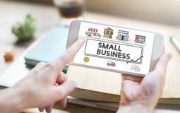 Concept d'entreprise de vente de stratégie de petite entreprise Photos stock