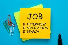 Concept d'entrevue d'emploi photos stock