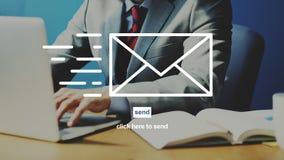 Concept d'enveloppe de correspondance de communication d'email images stock