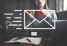 Concept d'enveloppe de correspondance de communication d'email photographie stock
