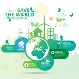 Concept d'environnement du monde Laissez les économies du ` s le monde ensemble diriger l'illustration Image stock