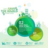 Concept d'environnement du monde Laissez les économies du ` s le monde ensemble diriger l'illustration Photos libres de droits