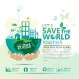 Concept d'environnement du monde Laissez les économies du ` s le monde ensemble diriger l'illustration Photo libre de droits