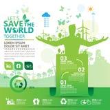 Concept d'environnement du monde Laissez les économies du ` s le monde ensemble diriger l'illustration Image libre de droits