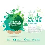 Concept d'environnement du monde Laissez les économies du ` s le monde ensemble diriger l'illustration Photo stock