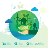 Concept d'environnement du monde Laissez les économies du ` s le monde ensemble diriger l'illustration Photographie stock