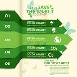 Concept d'environnement du monde Laissez les économies du ` s le monde ensemble diriger l'illustration Images libres de droits