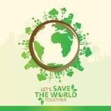 Concept d'environnement du monde Laissez les économies du ` s le monde ensemble diriger l'illustration Photographie stock libre de droits