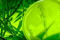 Concept d'environnement, globe en verre Image stock