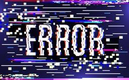 Concept d'erreur de problème Bruit numérique coloré de pixel Effet d'écran de télévision Image corrompue sur le fond de couleur illustration libre de droits