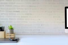Concept d'espace de travail : bureau créatif de lieu de travail Photos libres de droits